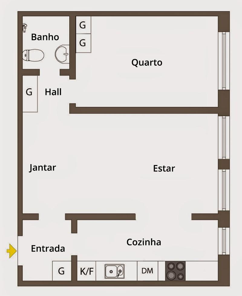 Apartamento de 42m² que esbanja charme e boas ideias 15